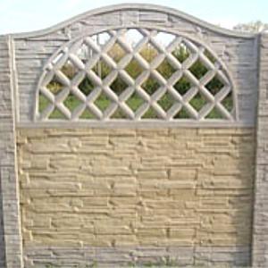 Kámen štípaný s obloukem a mřížkou